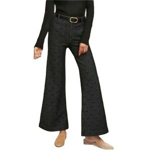 Anthropologie Cartonnier jacquard dot trousers 32